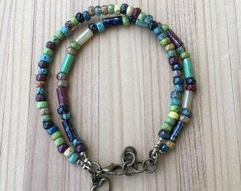 Layered Bracelet, Boho Bracelet, Multi Strand Bracelet, Beaded Bracelet, Seed Bead Bracelet, Rustic, Bohemian Bracelet, Handmade Bracelet