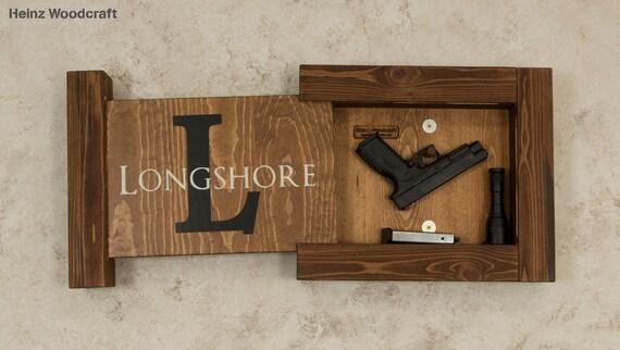Charmant Solid Pine Concealed Gun Storage Gun Storage Hidden Gun