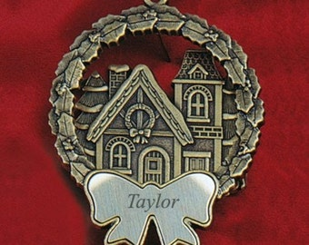 Personalized Victorian House Bronze Ornament