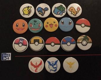 Pokemon Badges 25 mm