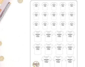 Friday Is My Favorite F Word Stickers for use in Erin Condren Planner Stickers