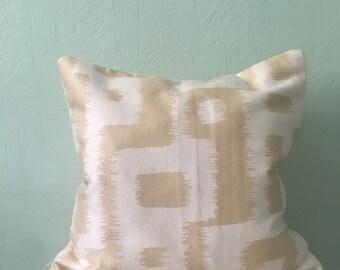 Handmade Yellow Blocked Pillow Cover 13x13