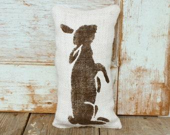 Le Lapin - The Rabbit -   Burlap Doorstop - Rabbit Decor - Bunny - Spring Decor - Easter Decor - Door Stop