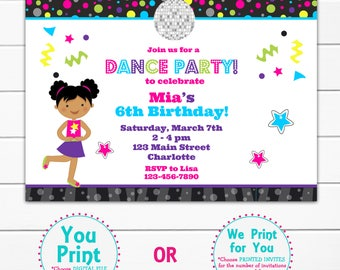 Dance Birthday Party Invitation Dance Party
