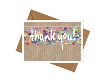 10 Pack Thank-you Cards with Envelopes - Paint Dots