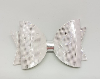 Butterfly hair bow, colour changing hair bow, silver hair bow, pink hair bow, holographic hair bow, butterfly bow clip, summer accessories