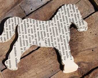 Die-cut horse, vintage horse, italian book, scrapbooking paper, wedding table, wedding decor, 20 pieces