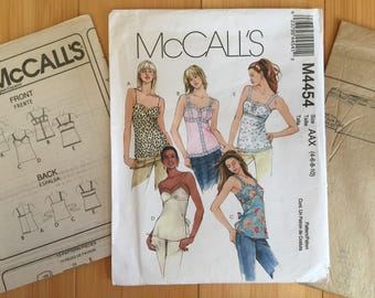 tops size 4 6 8 10 bust McCalls 4454 misses sewing pattern
