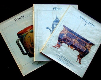 Vintage Set of 3 Smithsonian Illustrated Library Of Antique Books Furniture Silver Pottery Antiques Refernce