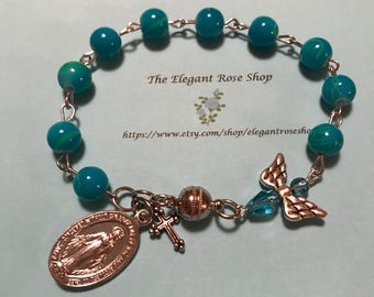 Beautiful, Handmade Rosary Bracelet