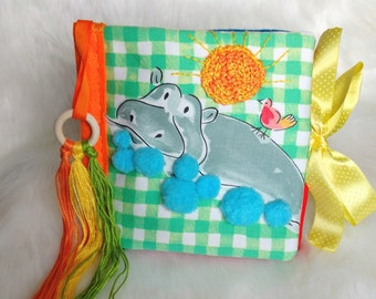 Fabric baby book Quiet book Montessori Cloth book Fabric activity book Kids busy book Sensory toy Toddlers gift Tactile baby book