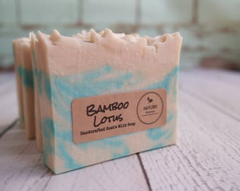 Bamboo Lotus Goat's Milk Soap with silk - great summer scent
