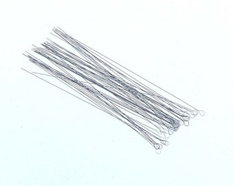 10 pc 2 1/2 inch Medium Flexible Soft Twisted Wire Beading Needles (twn-10)