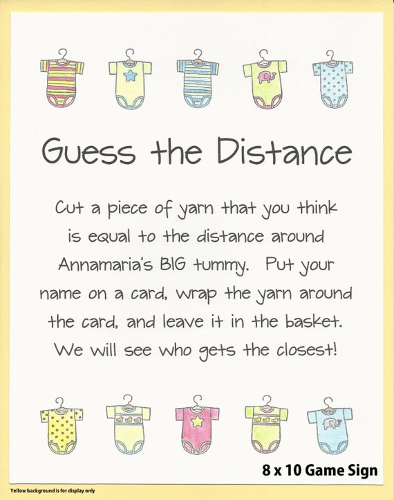 Guess The Distance Baby Shower Game   Measure Moms Tummy Games, Baby Bump Shower  Games, Big Tummy Baby Shower Games, Easy Baby Shower Games