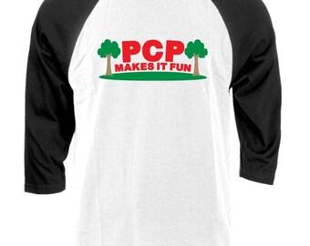 PCP MAKES It FUN - Raglan Baseball Style T-shirt tee
