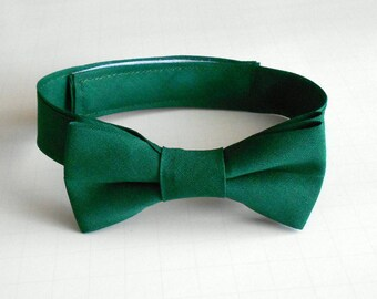 Hunter Green Bowtie - Infant, Toddler, Boy - Emerald, Forest-                 2 weeks before shipping