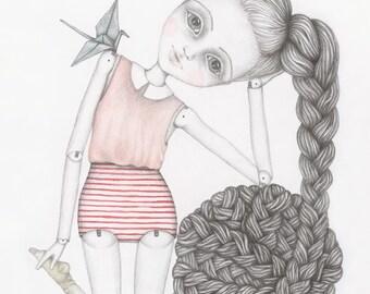 Ball & Chain - illustration art print