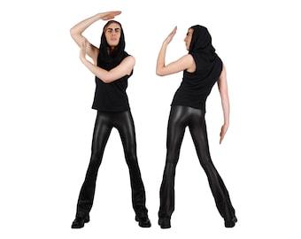 Mens Flare Leggings, Meggings, Mens Leggings, Mens Festival Pants, Burning Man Men, Festival Clothes Men, Rocker Leggings, by LENA QUIST