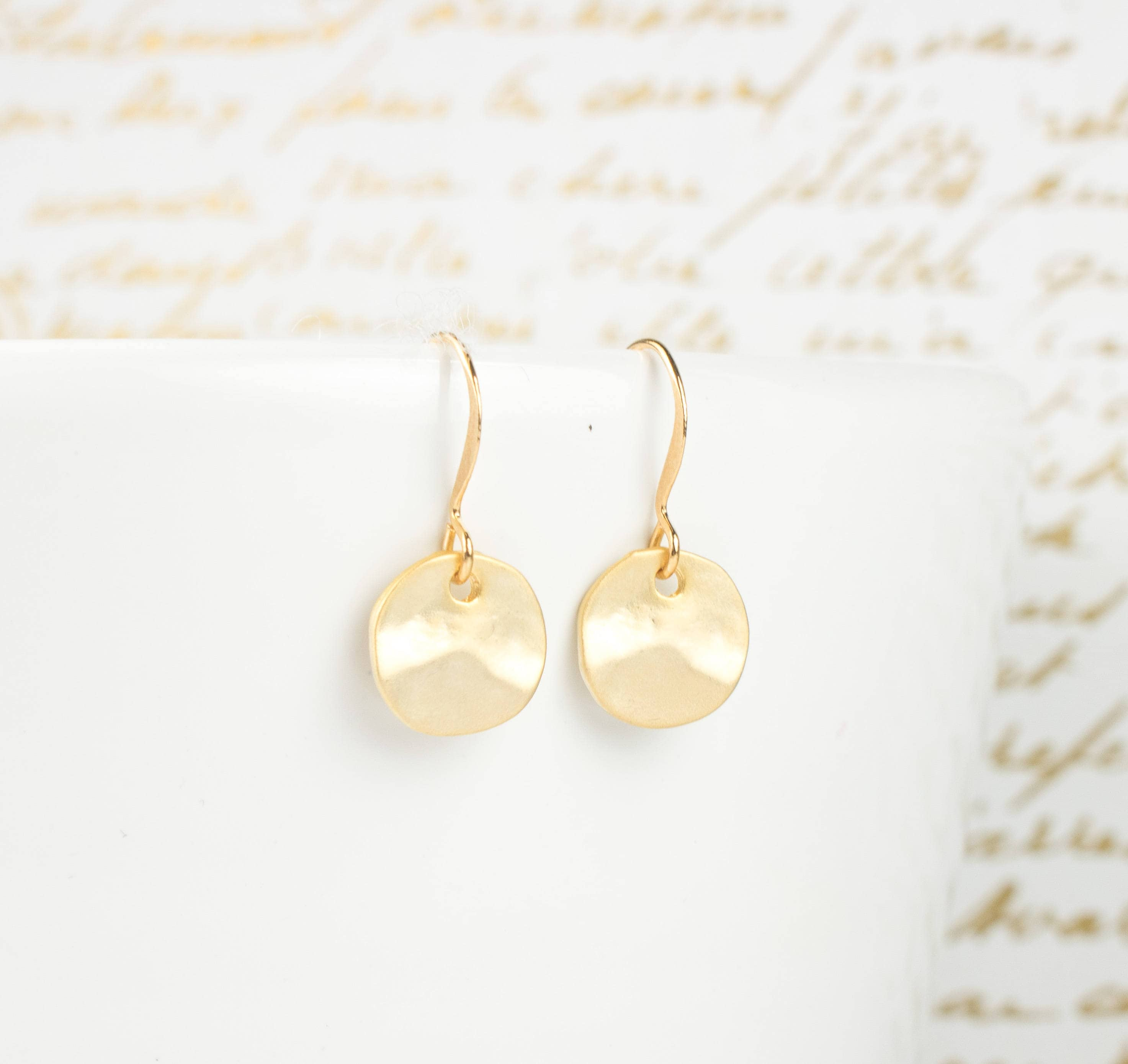 by jewelry studio e matte disc hammered product b gold earrings