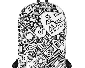 Love 4 Music white Backpack