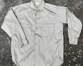60s Sears and Roebucks Hercules Workshirt size 15 1/2, Small