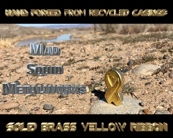 Solid Brass Yellow Ribbon