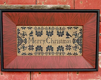 CARRIAGE HOUSE SAMPLINGS Quaker Christmas Samplers counted cross stitch patterns at thecottageneedle.com 2 designs December Winter holidays