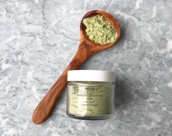 Green Tea Face Mask | French Green Clay Mask | Vegan Face Mask | Mother gift