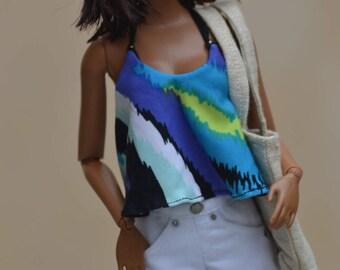 White Fringe Shorts for 12in Fashion Dolls