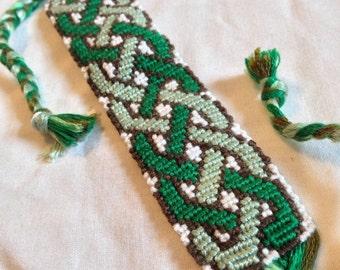 Green Celtic Braid Friendship Bracelet