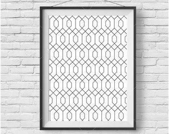 Abstract Print, Abstract Wall Art, Abstract Poster, Pattern Print, Geometric Print, Geometric Wall Art, Black & White Print, Home Decor