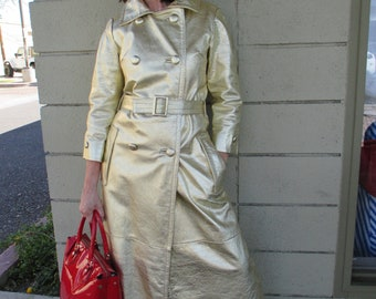 Eye Spy Metallic Vintage Trench Coat