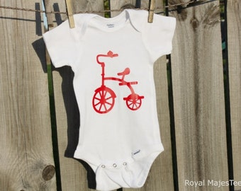 Tricycle Bike Onesies®, Bicycle Baby Shower
