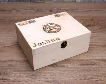 Christmas Eve Box, Personalised Christmas Eve Box, Kids Christmas Box, Christmas Eve Treat Box, Wood Christmas Box, Treat Box