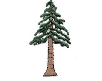 """Tree- Pine Tree - Forest - Nature - Embroidered Iron On Applique Patch - 3""""H"""
