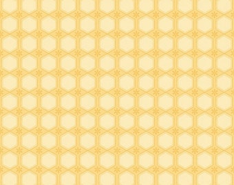 Honeycomb Yellow - Sew Bee It Collection by Shelly Comiskey 6643-44 (sold by the 1/2 yard)