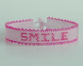 Smile - Bracelet Pattern - Peyote Pattern