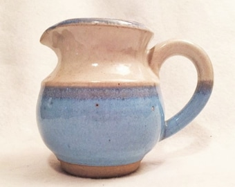 Pottery cream pitcher