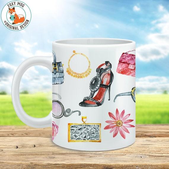 Watercolor Fashion Feminine Coffee Mug - Great gift for any Fashionista