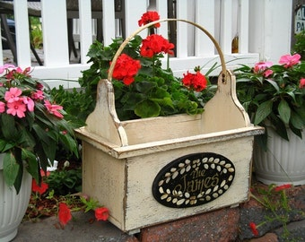 Small Personalized Tote with Metal Handle