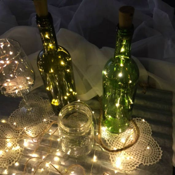 Light Up Wine Stopper Party Decor! Wine Cork Lights. Christmas Party Or New  Yearu0027s Party. 19 In U0026 10 Fairy Lights. Wine Bottle Lights.