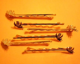 6 Goldplated 10mm Angel Bobby Pin Findings