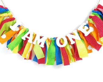 Carnival or Caterpillar Birthday Banner - Rainbow Birthday - Photoshoot Prop - Garland First Birthday Party Decor