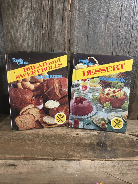 Vintage from 1978 Family CIrcle Book books, set of two vintage cook books, Family CIrcle Bread and Sweet Rolls and Desserts, vintage cooking