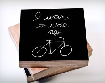Light writing/bicycle/want to ride/bike/Bamboo wall art/bamboo/