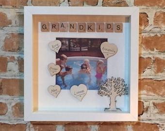 Grandkids Scrabble Photo Frame