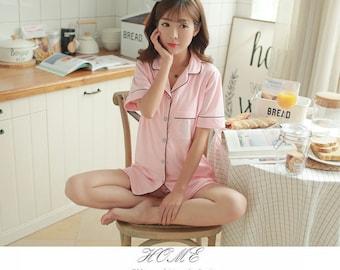 Nursing pyjamas for Summer Pink