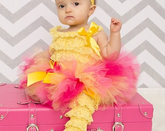 Pink and Yellow Lemonade Stand Tutu...First Birthday Tutu, Summer Tutu...Newborn to Adult Tutu Sizes . . . LEMONADE AND LOLLIPOPS