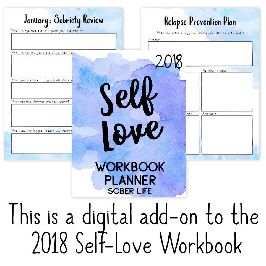 Sober Life: 2018 Self-Love Workbook Add-On Recovery AA