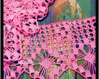 Hand dyed vintage lace